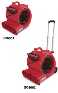 Sanitaire SC6052A 1/2HP Air Mover w/Handle, 3 Speeds and 20' Cord  for Carpet Drying and Restoration
