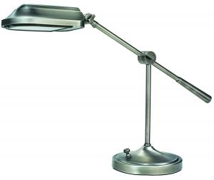 "Verilux VD03GG1 Heritage Deluxe Desk Lamp - Nickel Finish, Verilux VD03GG1 Heritage Deluxe Desk Lamp Light, NICKLE Finish, 27W Bulb, Telescopes 33-59"", Hand Finish Deco MetaL, Optix Glare Control Filter, 10Lbs"