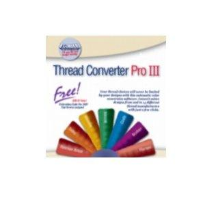 Floriani FREE Thread Converter Pro III, Converts to and from 14 Brands, Includes Demo of All Click2Stitch, Click 2 Stitch Embroidery Software Programs, Download Now or Ship CD