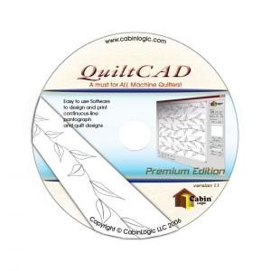 Grace QuiltCAD PatternCAD Pantograph Design Software from Cabin Logic for up to 14x14' Quilting Layout, Continuous Block, Pattern Placement - Vista OK