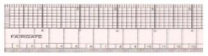 Fairgate FG91-318B  Transparent Graph Ruler (English/Metric) 18&quot;