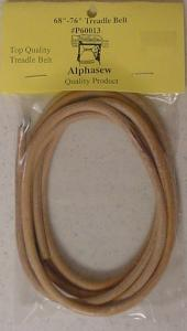 "Alphasew, P60013, Round Leather, Sewing Machine, Treadle  Belt, 72"" inches for, Old Singer Cabinets, with Manual Rocking, Foot Pedals"