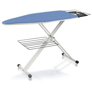 "Reliable, C60, Large, Home Ironing Table, 19 x 47"", 30-38"" Height Adj, Garment Tray, Iron Rest, 21Lb, White Metal Finish, Replaces C55, ITALY"
