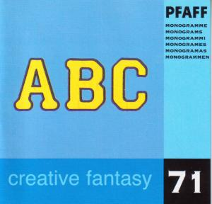 Pfaff Creative Fantasy No. 71 Monograms Embroidery Card