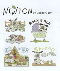 OESD 861 Newton By Leslie Clark Large Embroidery Designs Card