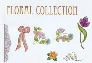 Oesd Floral Collection By Bayberry's Large Embroidery Multi-Formatted CD