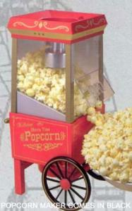 Nostalgia Electrics, OFP 501, Old Fashion, Movietime, Popcorn Maker, Hot Air Popper, Includes Measuring Kernel Dispenser, Makes Light and Healthy Snacks