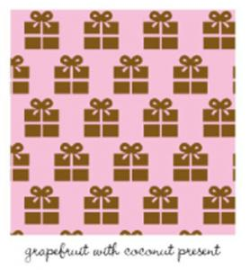 Kiwi Embroidery Paper #425 Grapefruit With Coconut Presents 8.5in x 11in Sheet