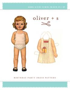 Oliver + S OS10A  Birthday Party Dress Small, 6mo-3T Pattern