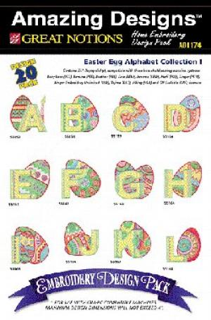 Amazing Designs / Great Notions 1174 Easter Egg Alphabet Multi-Formatted CD
