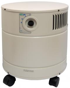"AllerAir, 4000 D, Exec Air, Cleaner Purifier, 15x17.5"", on Casters, 400CFM, 50-75dB, 8'Cord, 3Speeds, 16Lb 3"" carbon filter, Micro-HEPA & pre-filter, 44Lbs"