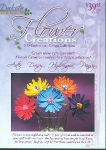 Dakota Collectibles 970384 Floral Creations 3-D Embroidery Designs Multi-Formatted CD