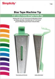 "Simplicity 881966 Bias Tape Maker Tip-1/2"" Inch for making Single Fold Bias Tape"
