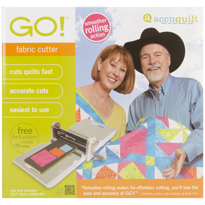 "-ACCUQUILT GO! AccuQuilt Go 55100 Digital Fabric Cutter Machine, 3 Way Die +6x12"" Mat"