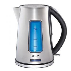 Krups BW3990 Intuitive Kettle - Stainless Steel, Auto Off, 1.8 Qt, 1500 Watts, On/Off Switch