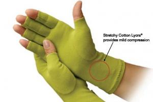 Creative Comfort CC82309 Ergonomic Crafters Comfort Glove MEDIUM, for Home or Commercial Sewing Cutting Quilting Embroidery Crafts Upholstery Knitting