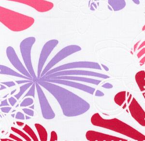 Fabric Finders 15 Yd Bolt 10.00 A Yd  671 White With Purple and Pink Floral Pique100% Pima Cotton Fabric  60 inch