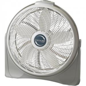 "Lasko 3520 20"" Cyclone Pivoting Floor Fan - 3 Speeds, Lightweight, 90 deg pivot, ETL Listed"