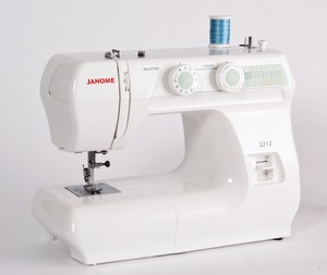 Janome 2212, 6 Stitch, Basic, Mechanical, Full Size, Freearm, Sewing Machine, Buttonhole, Reverse, Metal Bobbin Case, Oscillating Hook, SnapOn Feet, Janome 2212 3YrExtWarranty* 12/39Stitch Mechanical Freearm Sewing Machine, Buttonhole, 4mmS.L. 5mmZZ MetalBobbinCase 3Feet DropFeed 13Lb 860SPM (H5812