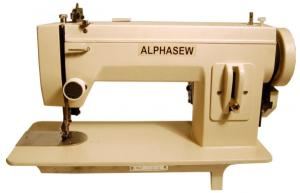 "AlphaSew, PW400, 9"" Arm, Straight Stitch, Metal, Portable, Walking Foot, Upholstery, Sewing Machine, 16.5x7"" inch Flatbed, 1/4"" inch Welt Foot Lift, 4SPI,, 150W 1.5A, 900 SPM"