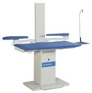 "Reliable, 626HA, Commercial, Heated, Vacuum, Ironing Board, Pressing Table, 52"" x 25"", EXHAUST Chimney, Swing Arm, Sleeve Buck, Catch Tray, 0.6 HP, EUROPE"