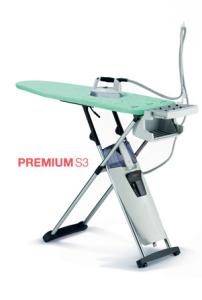 Laurastar, S3 PREMIUM, Steam Generator, Iron, & Folding, Ironing Board, 2200W, 3.5 Bar, 200 L/Min, 3 Min Heat, 1.2L Tank, Scale Filter, Hot Store, Wheels, SWISS