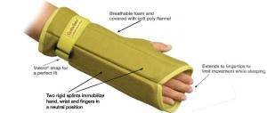 Creative Comfort CC82304 Crafter & Hand Brace Glove, Night time Carpal Tunnel Brace, Home or Commercial Sewing