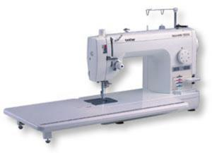 "Brother, PQ1500S, 9"" Arm, 7mm Straight Stitch, Sewing, Quilting, Machine, Pin Feed, Needle Up Down, Threader, Trimmers, Knee Lift, Drop Feed, Walk Foot, 11X23"" Table, 25Yr"