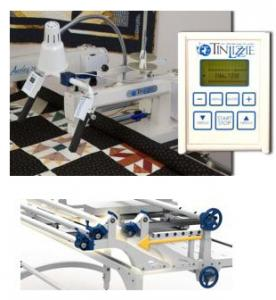 "Tin Lizzie, 18DLS, Digital, 18"" Long Arm, Quilting Machine, and Phoenix, 72-144"" King Size, Metal, Quilting Frame, Tin Lizzie Demo 18DLS Digital 18"" LongArm Quilting Machine Head, Handle Bars, Stitch Regulator, Encoders +Phoenix 144"" King Height Adjust Metal Frame"
