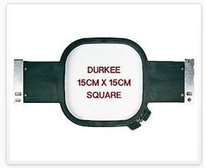 "Durkee JN-1515cm 15 cm Square (6"" x 6"") Embroidery Hoop for Janome MB4 Embroidery Machine"