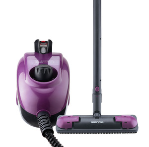 Sienna SSC-0312 Eco Steamer Canister Steam Cleaner, 1.2L Tank, 4 Min Heat Up, 35 Minutes Per Fill, 13 Accessories, On Off Switch, 1350W, No Chemicals