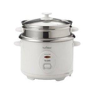 Aroma NRC-600, Nutriware,Surgical Grade Stainless Steel One Touch Pot Style Rice Cooker and Food Steamer