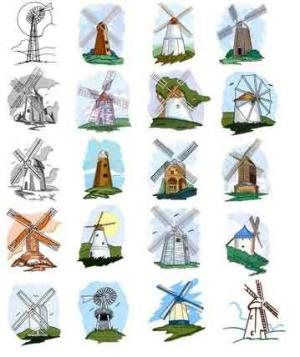 OESD, 11724, Windmills 1, CD Design Pack