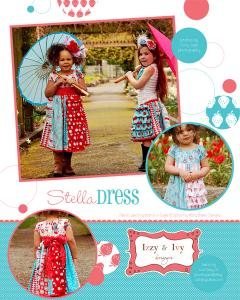 Izzy &amp; Ivy Designs  II157 Stella Dress Pattern