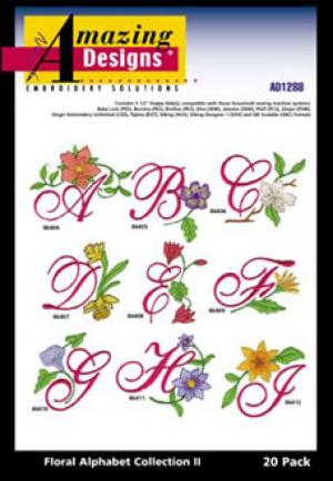Great Notions 1288 Floral Alphabet II Multi-Formatted CD