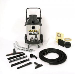 Shop Vac 001-3970 10 Gallon Stainless Steel 3HP Wet/Dry 10 Gallon Tank, 35' Cord, Onboard Accessory Storage, Extra Quiet, Extension Wands, Master Nozzle, Crevice Tool, Utility Nozzle, Tool Holder