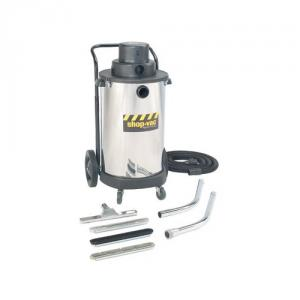 Shop Vac 001-36105 10 Gallon 2.0 Stainless Steel Wet/Dry Drywall High-Efficiency, Collection Filter Bag,  Accessory Storage Basket, 66 Seal Pressure, 185CFM,2.0 Peak HP, Heavy Duty Lock On Hose, Crevice Tool, Cartridge Filter, Extension Wand, Floor nozzle, Utility Nozzle, Squeegee