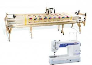 "Grace Gracie King 122"" Queen 87"" & Crib 51"" Quilting Frame PLUS Janome 1600P DBX Demo Sewing Machine & FREE Pushbutton Speed Control Box, 3 Prong Plug"