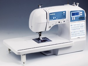 Brother, XR9500PRW, xr9000, sq9000, sq9050,  Brother SC9500, sc9500,  80/120 Stitch, Computer Sewing Machine, FONT, Ext Table ,Case, 8 x 1-Step BH, Start Stop, Reverse  Needle Up Down, Speed Limit, 10Lbs, (XR9000)