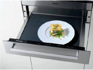 Miele ESW4086-14 Europa Design Warming Drawer, Touch Controls,Fan Assisted Heating System,Temperature Settings From 104ºF to  185ºF,Clean Touch Steel