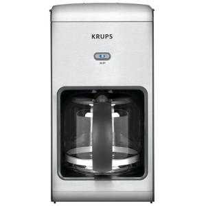 Krups, KM1010, 10 Cup, Coffee Machine, Glass, Carafe, Translucent Water Tank, 2 Hour, Auto Off, Programmable, Pause and Serve, Feature