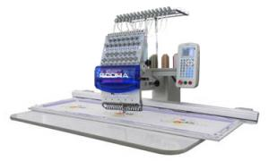 Ricoma RCM-1501PT-EW Extra Wide System Compact 15 Needle Industrial Embroidery Machine, Aluminum Sash Frame, Extended Table, Bigger Sewing Field of 500x450mm, 41x18""