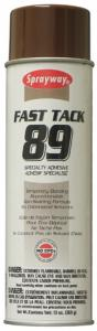Sprayway SW089 Fast Tack Specialty Temporary Adhesive Spray, 20 oz Cans 12/Case, also for Embroidery Machine Hoops, Stabilizers, and Fabrics