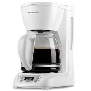 Black and Decker DLX1050W 12 Cup Coffee Brewer, Auto Shut-off, Programmable Clock, Control Panel, 110V AC, 975Watts of Power, Duralife Carafe, Filter