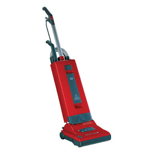 SEBO Automatic X4 9558AM Red Gray Upright HEPA Vacuum Cleaner 1300W, 40'Cord, Elect Height Adj, LifeBelt