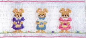 June Bug   JB51  Easter Egg Hunt Smocking Plate