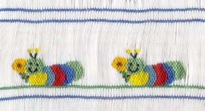 June Bug JB01 Caterpillar Capers Smocking Plate