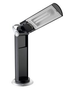 Daylight U33701 Twist Portable Lamp Light BLACK, Rotate 320 Degrees, 13W Fluorescent Tube, Flip Up to Light, Folds Down for Storage, 80% Less Energy