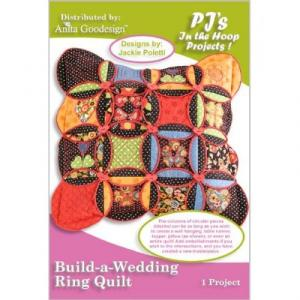 Anita Goodesign 05PJ Build-a-Wedding Ring Quilt Embroidery Design Pack on CD