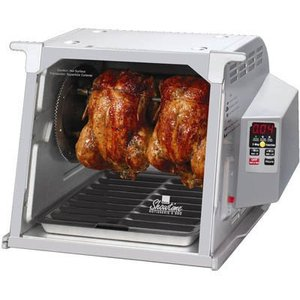 New Ronco ST5000PLGEN Showtime Digital Rotisserie and BBQ Platinum Edition, Ronco ST5000PLGEN Showtime Digital Rotisserie BBQ Oven Platinum, Timer, Spit, Basket, 8 Kabob Rods, Ties, Injector, Thermometer, Gloves, DVD, Recipes